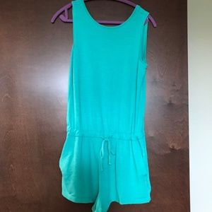 GapTeal Terry Cloth Romper